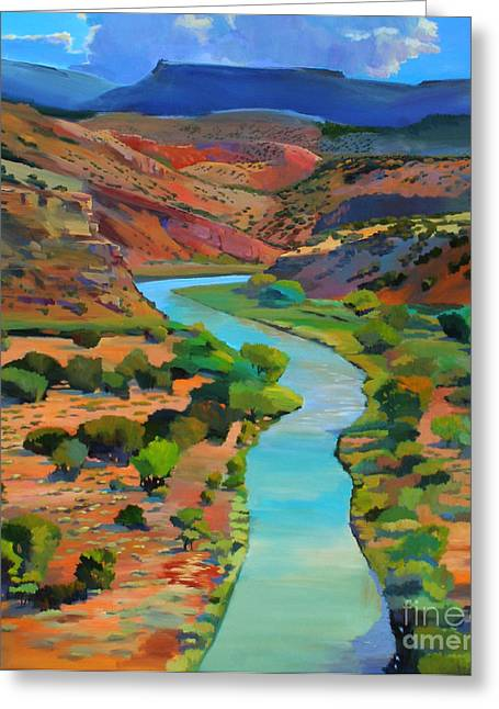 Chama River Greeting Cards - Rio Chama Overlook Greeting Card by Bernard Marks