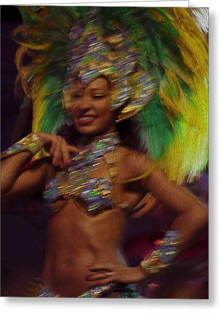 Momento Greeting Cards - Rio Dancer III B Greeting Card by Axko Color de paraiso