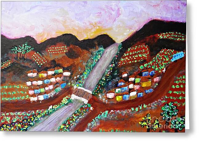 Sarah Loft Paintings Greeting Cards - Rio das Almas Greeting Card by Sarah Loft