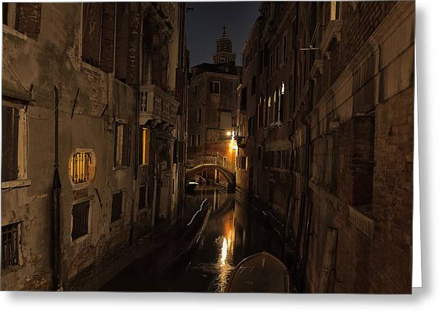 Venetian Canals Greeting Cards - Rio della Verona Greeting Card by Marion Galt