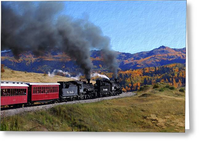 Railway Locomotive Greeting Cards - Rio Grande 488 and 489 Greeting Card by Kurt Van Wagner