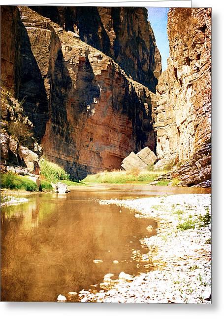 Judy Hall-folde Greeting Cards - Rio Grande at Santa Elena Canyon Greeting Card by Judy Hall-Folde