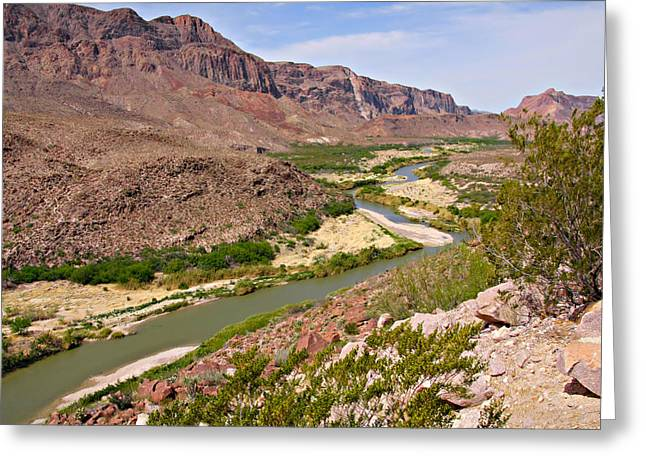 Grande Greeting Cards - Rio Grande Greeting Card by Christine Till