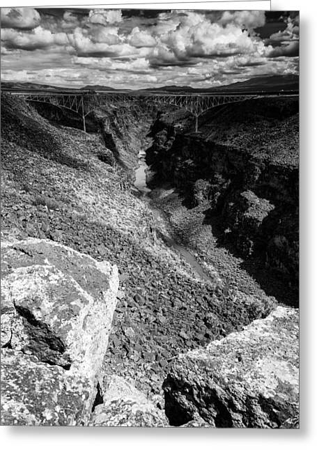 Northern New Mexico Greeting Cards - Rio Grande Gorge - Taos New Mexico Greeting Card by Silvio Ligutti