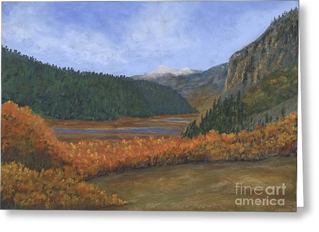 Minerals Pastels Greeting Cards - Rio Grande Headwaters Greeting Card by Ginny Neece