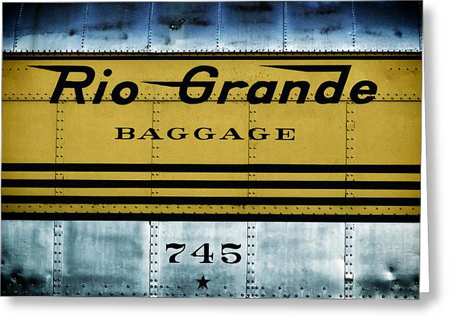 Colorado Railroad Museum Greeting Cards - Rio Grande riden the rails Greeting Card by Carter Jones