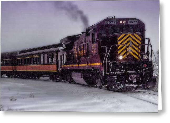 Snow-covered Landscape Digital Art Greeting Cards - Rio Grande Scenic Railroad Greeting Card by Ellen Heaverlo