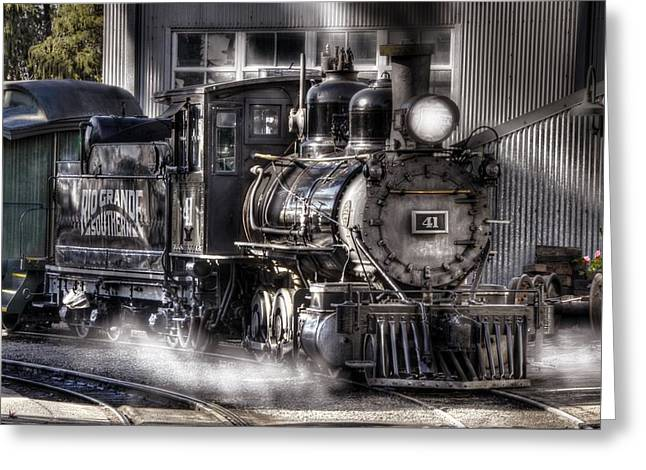 Narrow Gauge Steam Train Greeting Cards - Rio Grande Southern 41 Greeting Card by Ken Smith