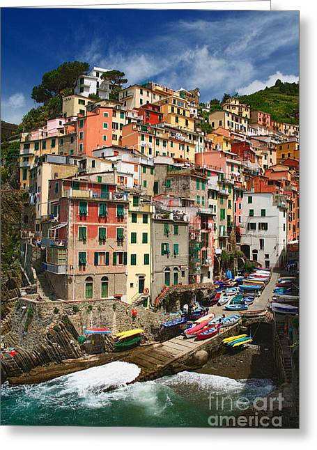 Cramped Greeting Cards - Rio Maggiore Marina Greeting Card by Inge Johnsson