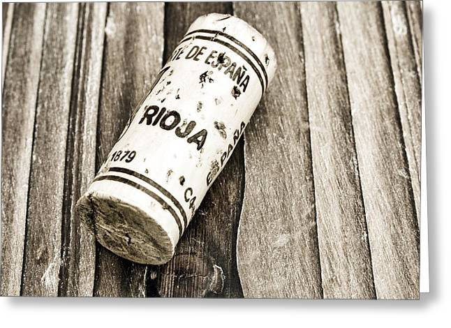 Wine Deco Art Photographs Greeting Cards - Rioja Wine Cork Greeting Card by Frank Tschakert