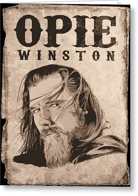 Kim Drawings Greeting Cards - R.I.P. Opie Greeting Card by Kyle Willis