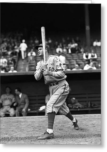 Baseball Bat Greeting Cards - Rip Russell Greeting Card by Retro Images Archive