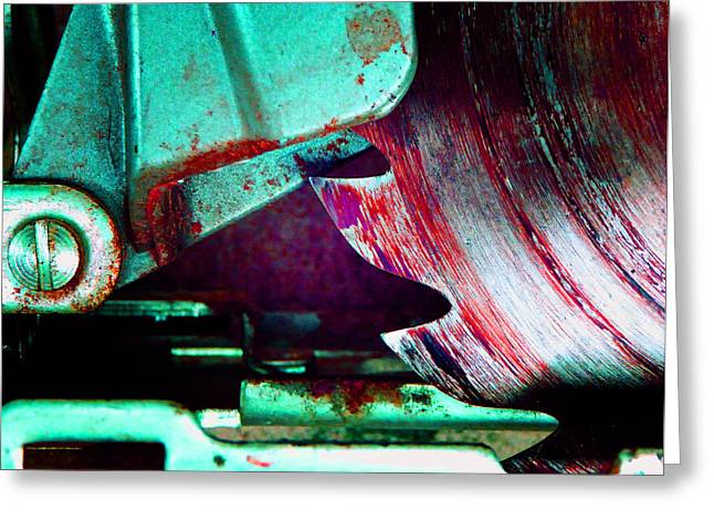 Decorator Set Greeting Cards - Rip Saw C Greeting Card by Laurie Tsemak