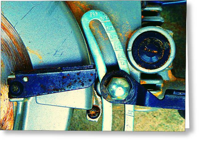 Decorator Set Greeting Cards - Rip Saw D Greeting Card by Laurie Tsemak