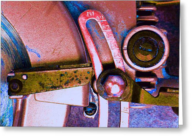 Decorator Set Greeting Cards - Rip Saw E Greeting Card by Laurie Tsemak