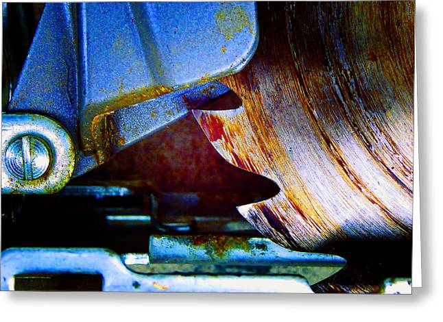 Decorator Set Greeting Cards - Rip Saw Greeting Card by Laurie Tsemak