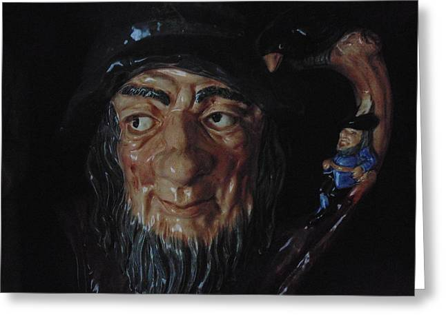 Acrylic Ceramics Greeting Cards - Rip Van Winkle Greeting Card by Dotti Hannum