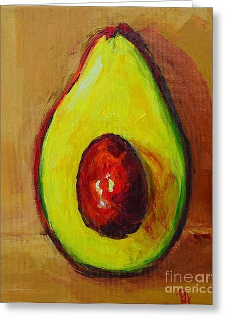 Buy Posters Online Greeting Cards - Ripe Avocado Greeting Card by Patricia Awapara