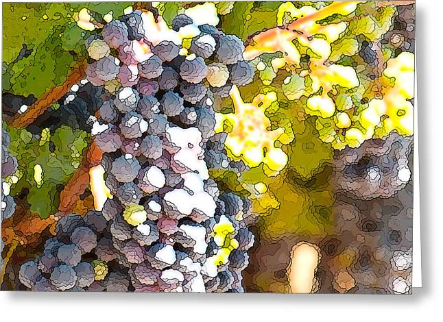 Vines Greeting Cards - Ripe Grapes Greeting Card by Artist and Photographer Laura Wrede