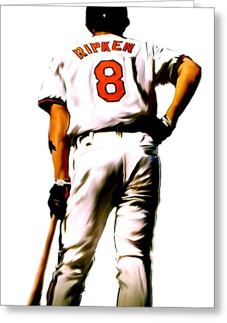 Cal Ripken Jr Greeting Cards - RIPKEN   Cal Ripken Jr Greeting Card by Iconic Images Art Gallery David Pucciarelli
