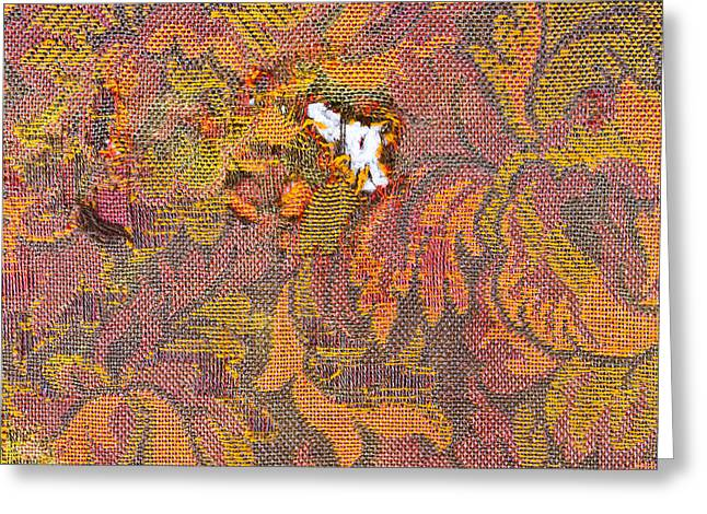 Torn Greeting Cards - Ripped upholstery Greeting Card by Tom Gowanlock