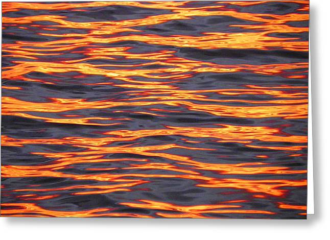 Sunset Abstract Photographs Greeting Cards - Ripple Affect Greeting Card by Karen Wiles
