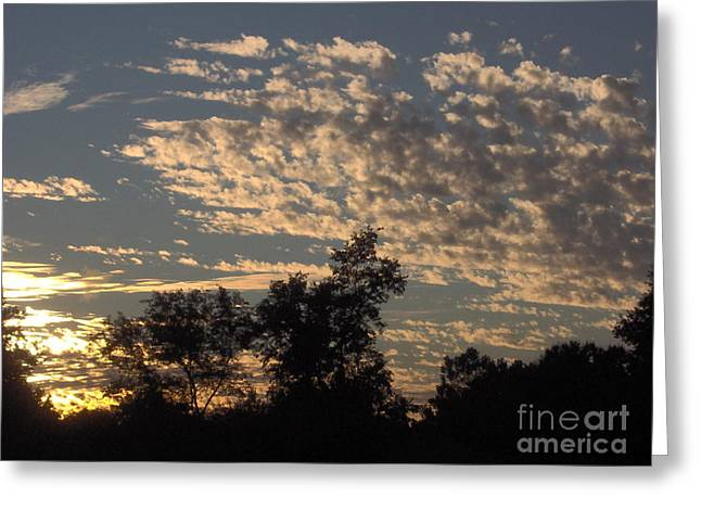 Best Seller Greeting Cards - Ripple Clouds At Sunset Greeting Card by D Hackett