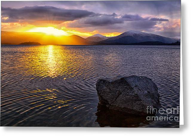 Colour Photographs Greeting Cards - Ripple Effect Color Greeting Card by John Farnan