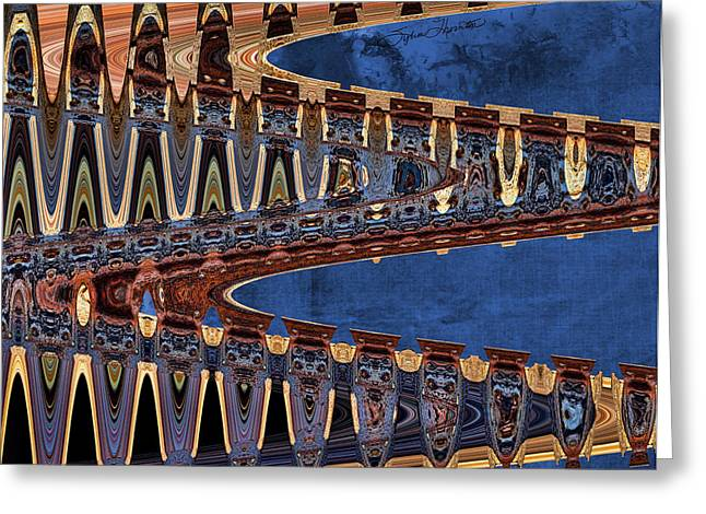 Textile Photographs Digital Greeting Cards - Ripple Effect Greeting Card by Sylvia Thornton