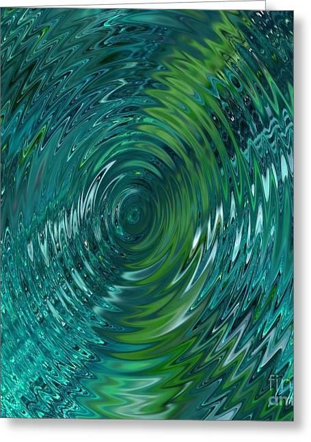 Ripple Sea Glass  Greeting Card by Christine Fournier