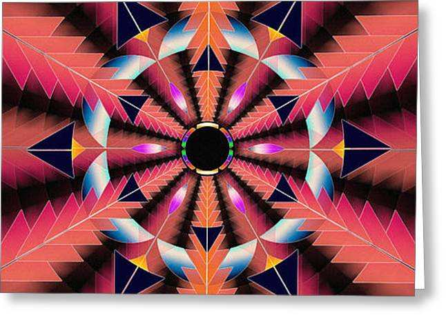 Geometric Image Greeting Cards - Rippled Source Of Light Banner Greeting Card by Derek Gedney