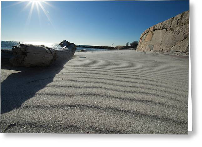 Sand Patterns Greeting Cards - Ripples Greeting Card by Heather Wardrop