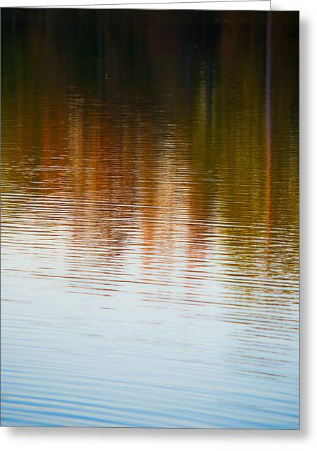 Sunset Abstract Greeting Cards - Ripples in Autumn Greeting Card by Shelby  Young