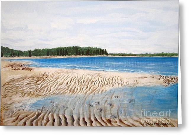 Ripples In The Sand Greeting Cards - Ripples in the Sand  Greeting Card by Carol Veiga