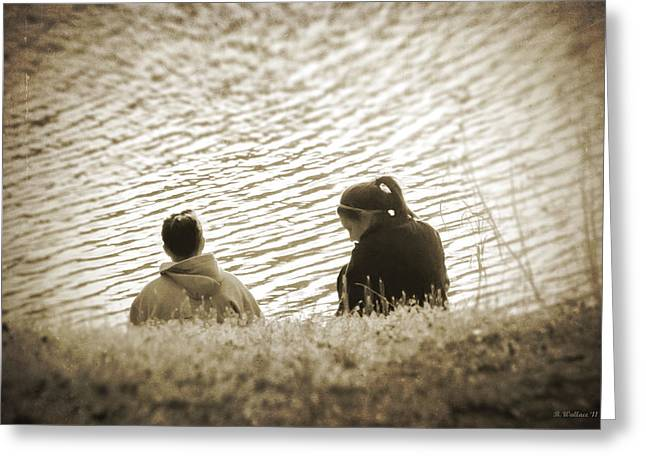Hoodies Digital Art Greeting Cards - Ripples In Time Greeting Card by Brian Wallace