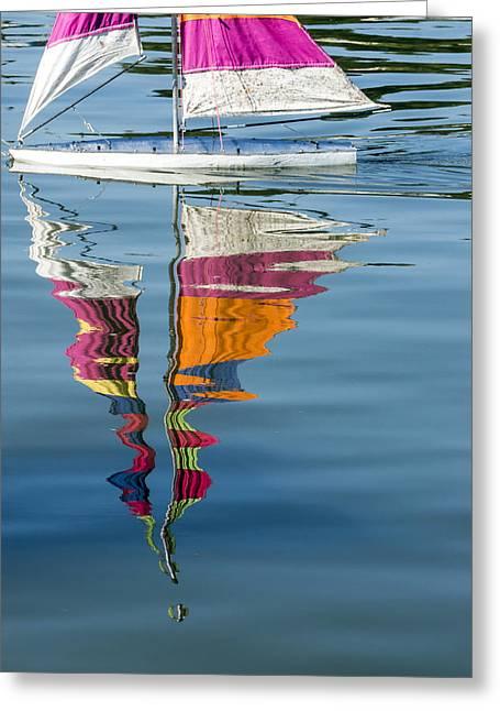 Lynn Palmer Greeting Cards - Rippling Reflections Greeting Card by Lynn Palmer