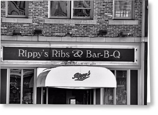 Nashville Downtown Greeting Cards - Rippys Ribs And Bar BQ Greeting Card by Dan Sproul