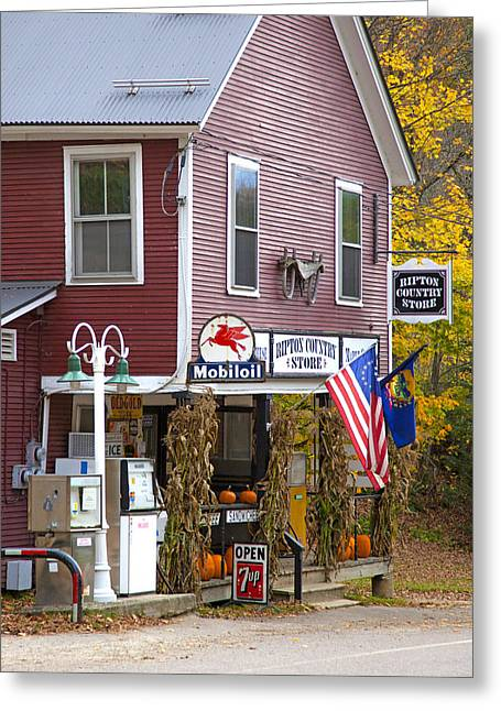 Vermont Country Store Greeting Cards - Ripton Country Store Greeting Card by Charles Harden