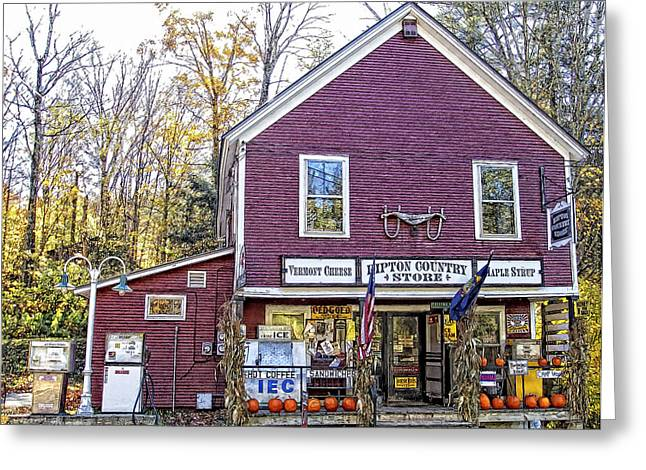 Vermont Country Store Greeting Cards - Ripton Vermont Country Store Greeting Card by Constantine Gregory