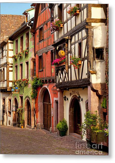 Route Des Vins Greeting Cards - Riquewihr Greeting Card by Brian Jannsen