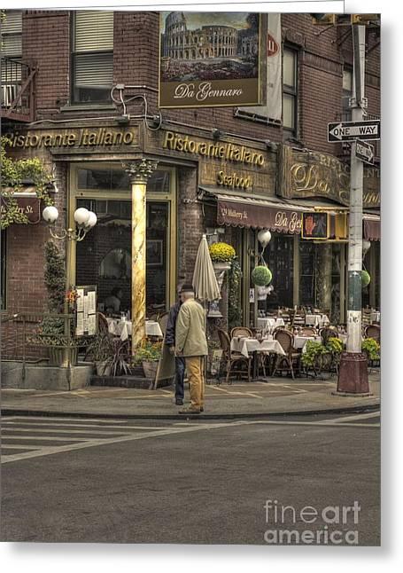 Italian Restaurant Greeting Cards - Risatorante Italiano Greeting Card by David Bearden