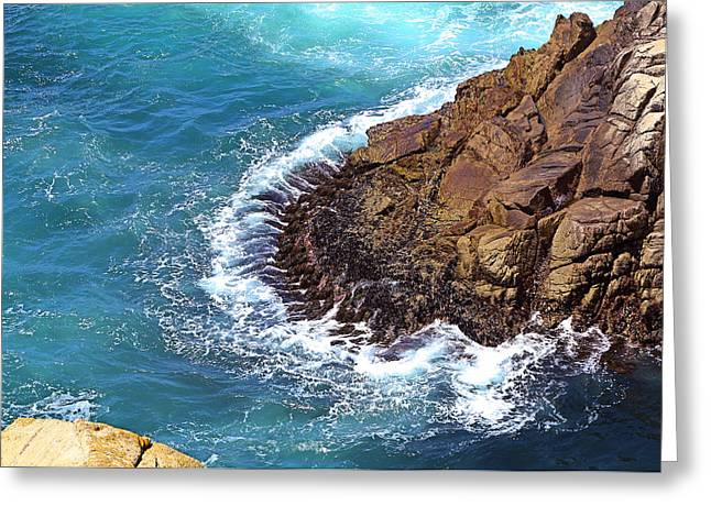 Point Lobos Greeting Cards - Rise And Fall Of Sea  Greeting Card by Viktor Savchenko
