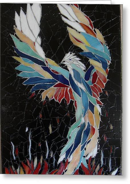 Fire Glass Greeting Cards - Rise Greeting Card by Pamela Holt