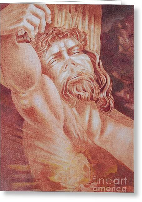 Jesus Pastels Greeting Cards - Risen Greeting Card by Gary Renegar