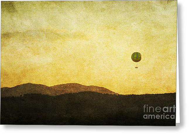 Helium Greeting Cards - Rising Above Greeting Card by Cindy Tiefenbrunn