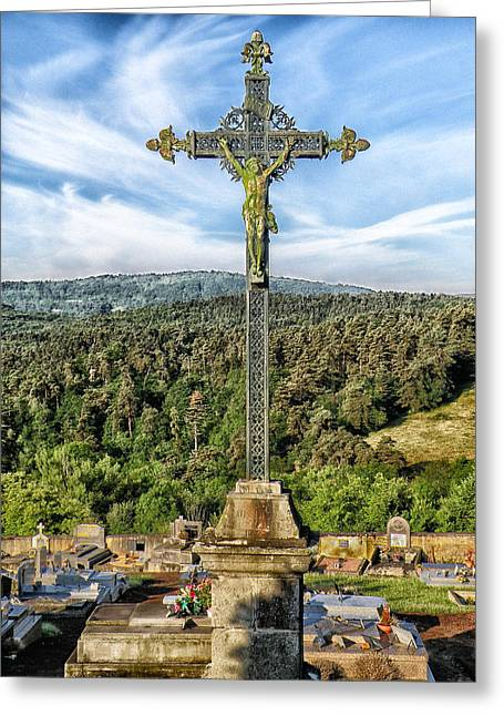 Headstones Greeting Cards - Rising Above the Cemetery Greeting Card by Mountain Dreams
