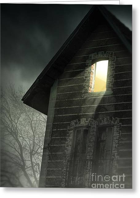 Rustic House Greeting Cards - Rising Fog Greeting Card by Carlos Caetano