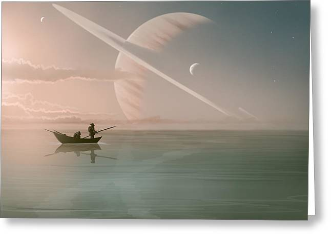 Saturn Greeting Cards - Rising Greeting Card by Mark Zelmer