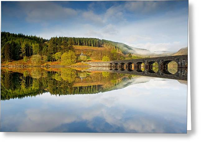 Wales Framed Prints Greeting Cards - Rising mist in the Elan Valley Greeting Card by Stephen Taylor
