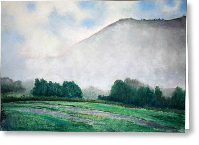 Birdseye Greeting Cards - Rising Mist Greeting Card by Nick Payne